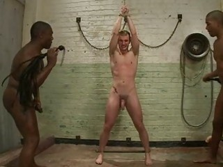 homosexual dude whipped in bondage